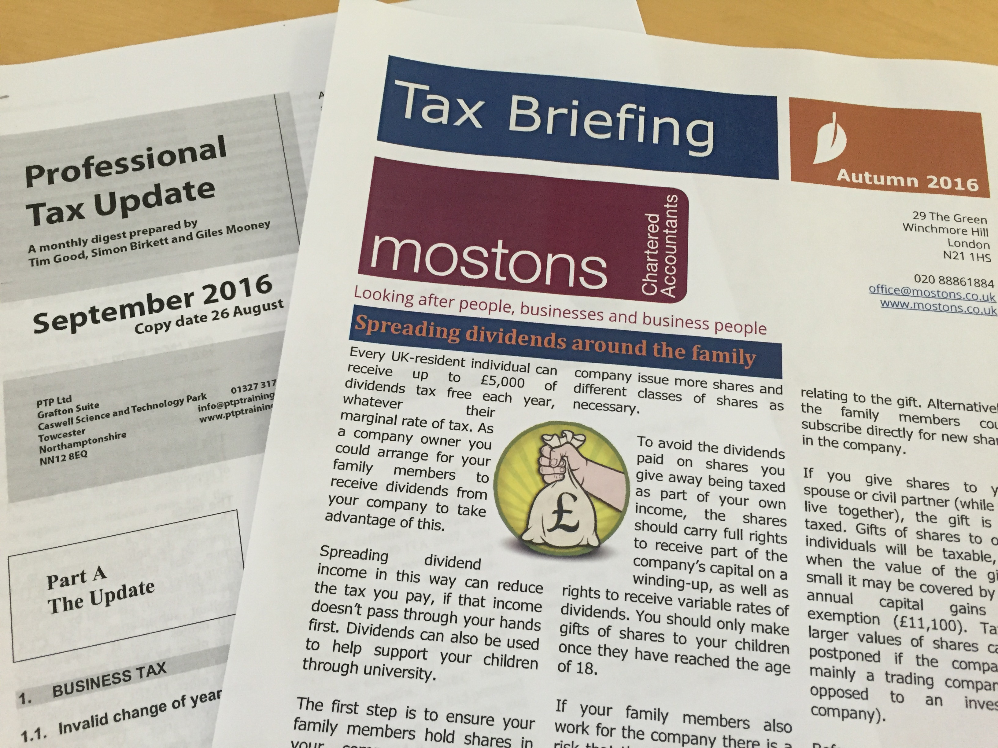 Tax update and Newsletter